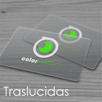 tarjeta traslucida